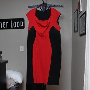 Avon Black and Red Bodycon Dress Sz 3x